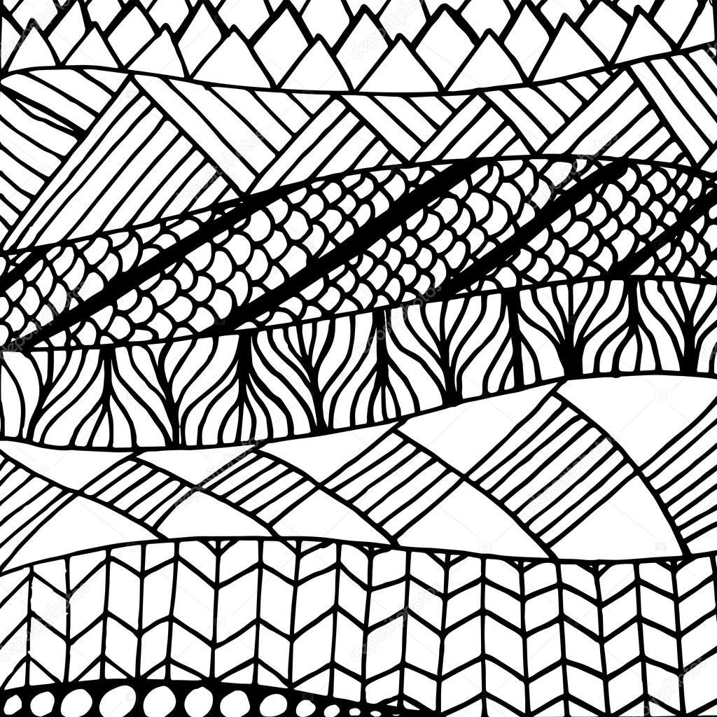 zentangle muster in vektor stockvektor - Zentangle Muster