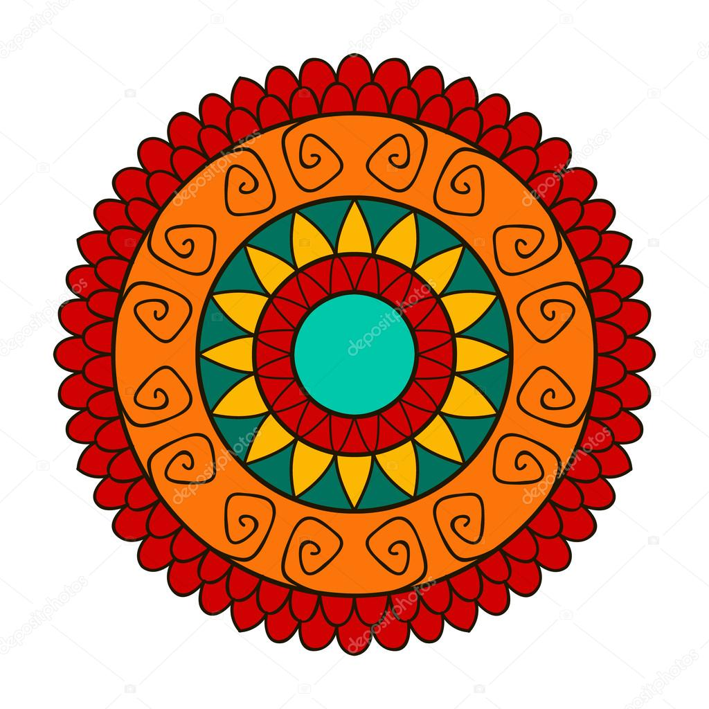 Flower mandala for cards, prints, textile and coloring books — Stock ...