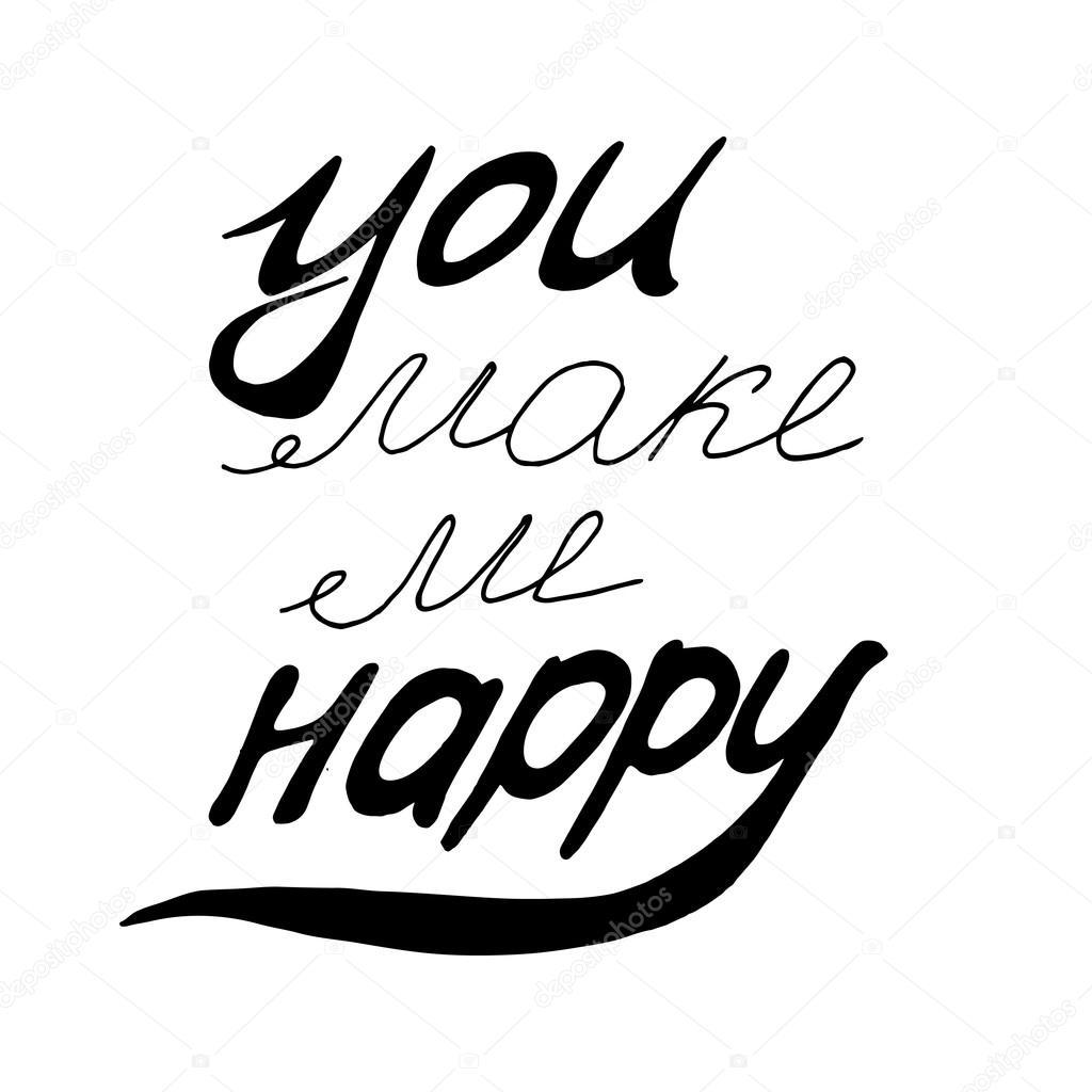 You Make Me Happy Stock Vector 0112angel 120397742