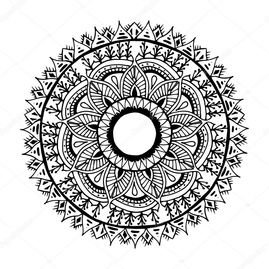Mandala de flores para tarjetas, impresiones, textiles y libros para ...
