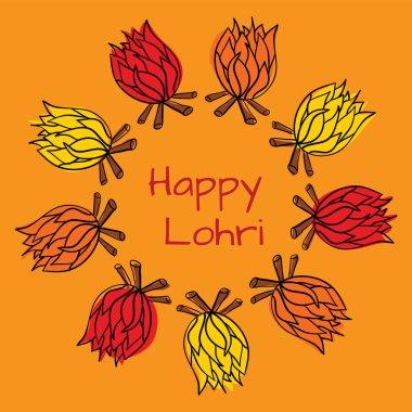 Happy Lohri in vector