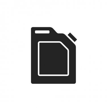 Fuel canister icon. oil industry, fuel technology, gasoline and petrol symbol. isolated vector image in flat style icon