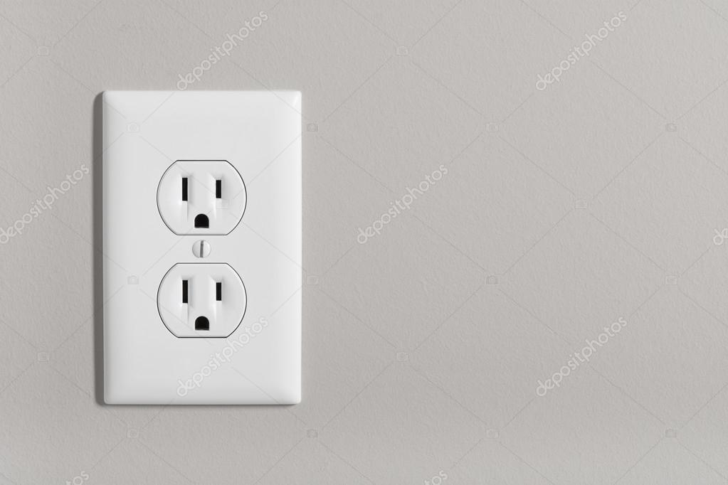 Electric Outlet on wall — Stock Photo © icemanj #112584398