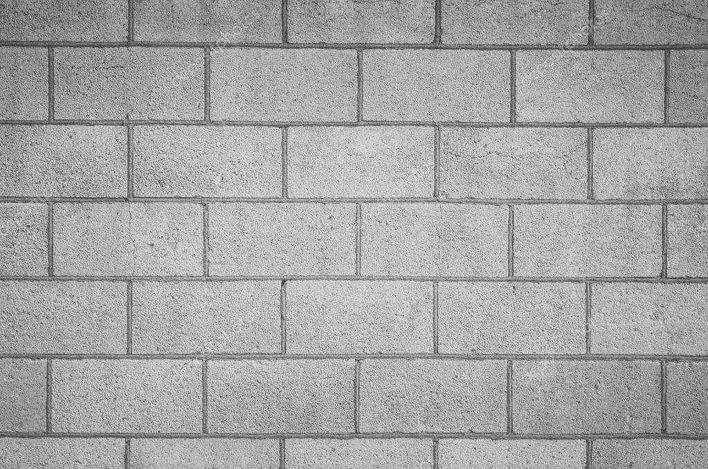 Seamless Block Wall : Concrete block wall seamless background — stock photo
