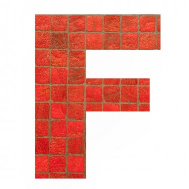 English alphabet letters with mosaic