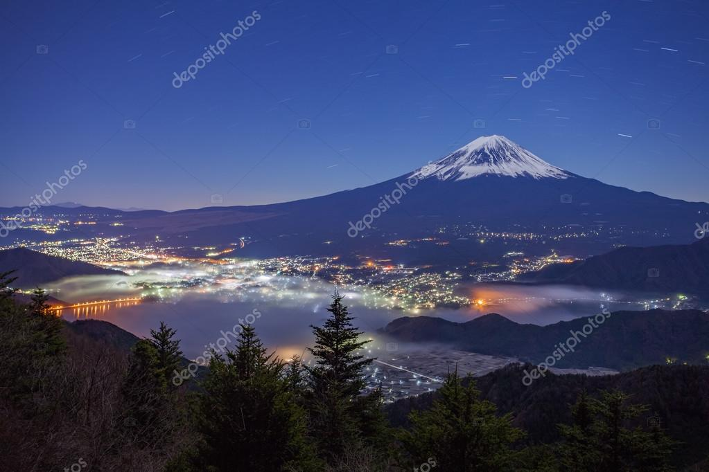 Mountain Fuji and Kawaguchiko lake