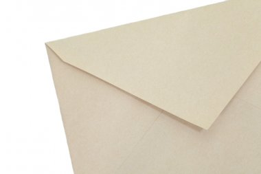 Close - up empty brown paper envelope stock vector