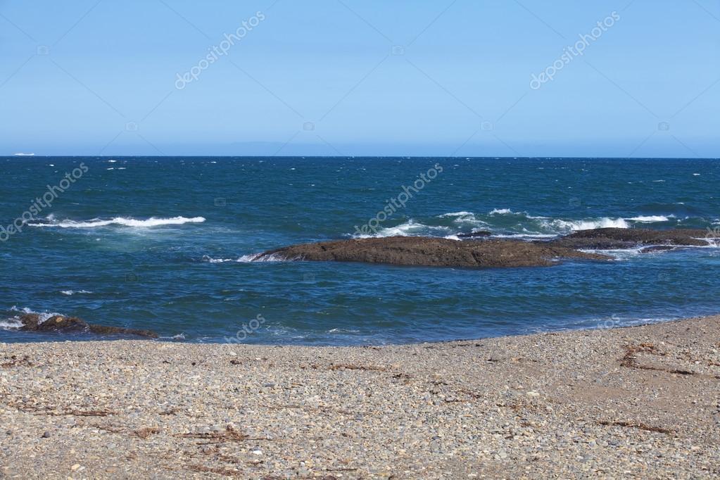 Фотообои Sand beach and blue sky