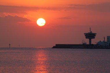 sunset above Fishing boats