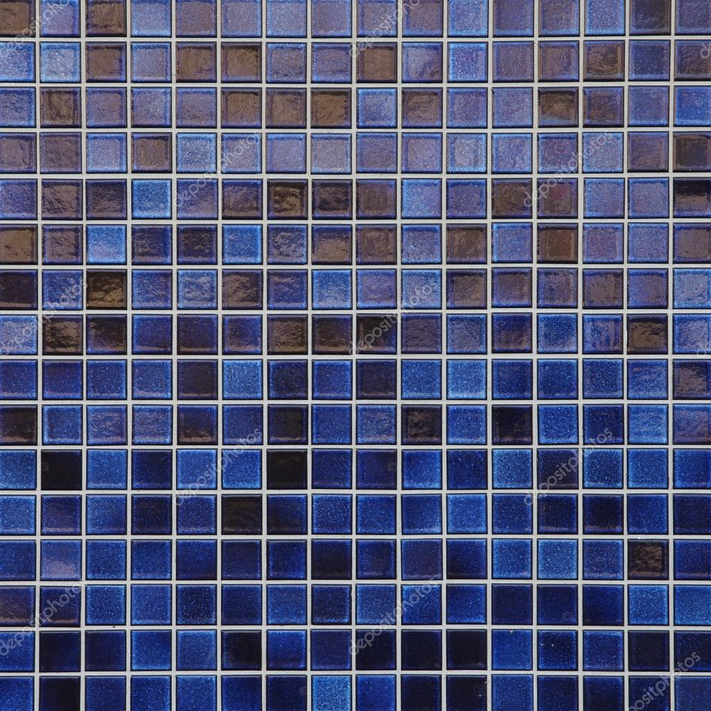 Blue mosaic tile wall — Stock Photo © Torsakarin #62844601