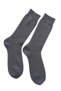 Men socks isolated on white