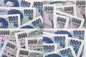 Stack of japanese currency