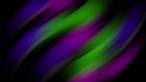 Barevné rozmazané světelné pruhy v pohybu na abstraktním pozadí. Duhové paprsky. Led Light. Budoucí technologie. Zářící dynamická scéna. Neonová erupce. Magic video 4k pohybující se rychlé čáry.
