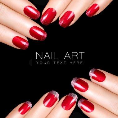 Nail Art. Luxury Nail Polish. Nail Stickers