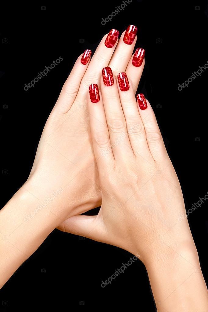 Nail Art.Magnetic Nail Lacquer. Tattoo