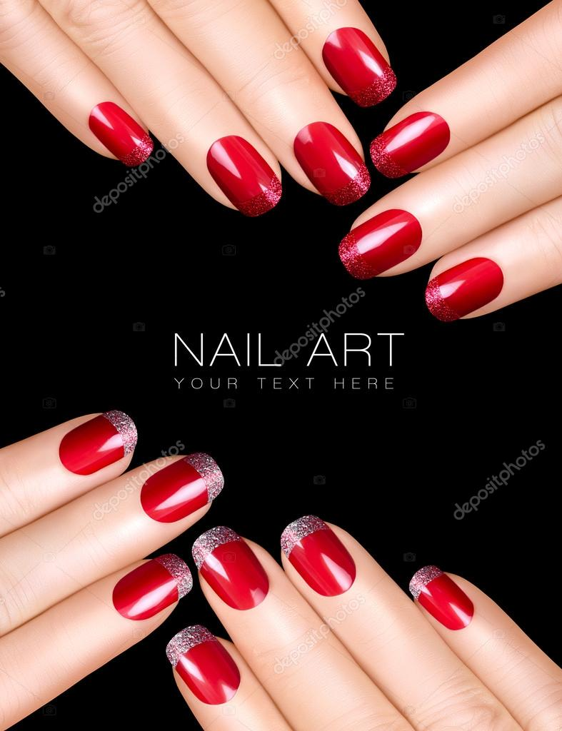 nagel kunst. luxe nagellak. Nail stickers — Stockfoto © casther ...