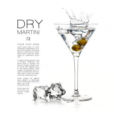 Dry Martini Cocktail. Splashes