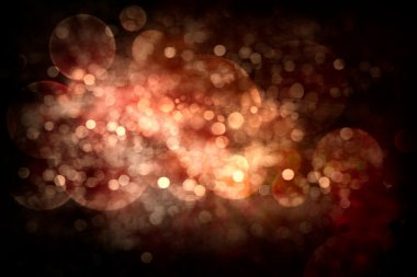 Festive Abstract Christmas Background. Glowing Holiday Bokeh