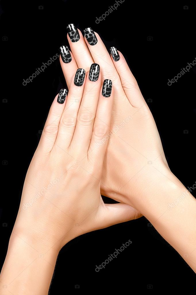 Nail Art Magnetic Nail Lacquer Tattoo Stock Photo Casther
