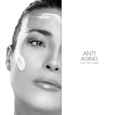 Anti Aging and Beauty Concept. Spa Treatment. Template Design