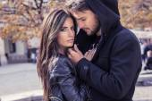 Fotografie Herbst Porträt von sexy Paar