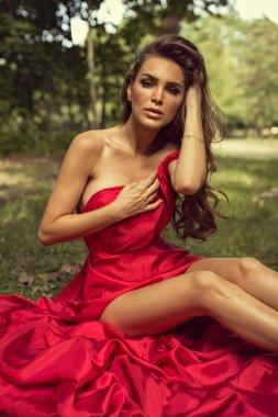 Bride wearing red dress