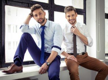 Sexy handsome men posing