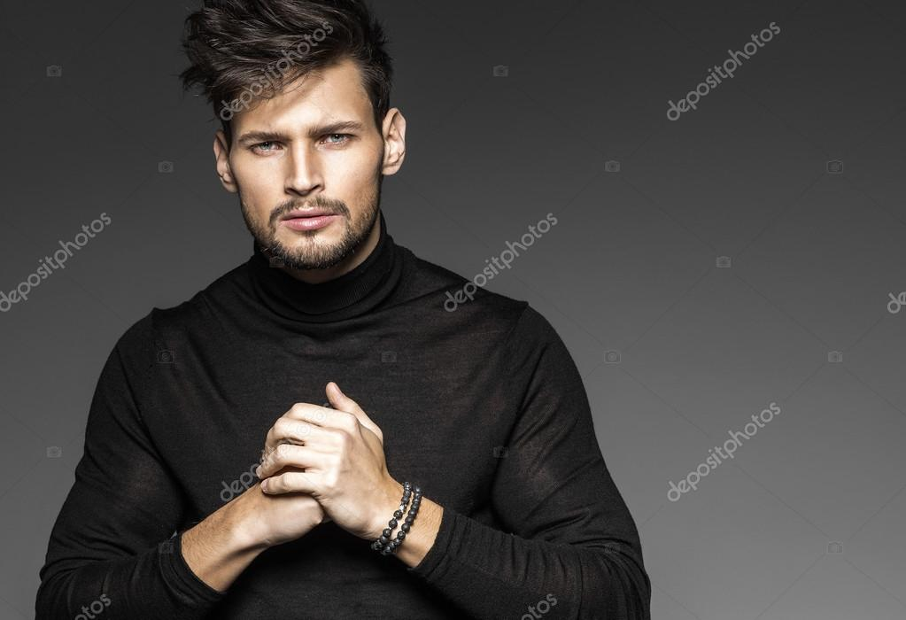 Handsome Sexy Male Model Posing Stock Photo C Kiuikson 97236670