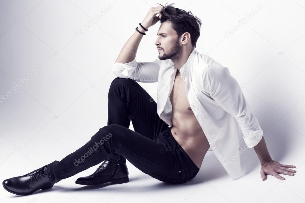Male Fashion Sitting