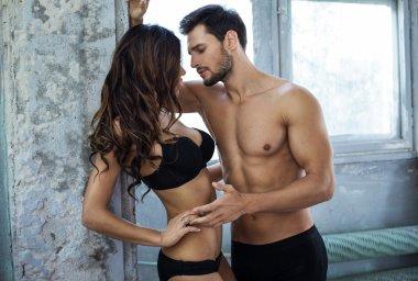 Portrait of sexy sensual couple