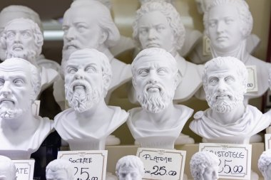 Plaster busts of philosophers for sale
