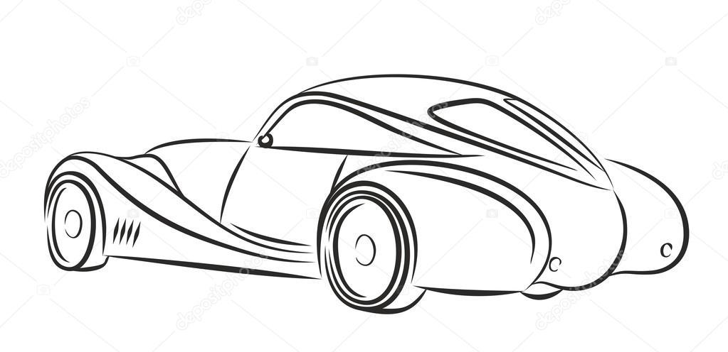 auto retro tekening — stockfoto © designer_an #103248808