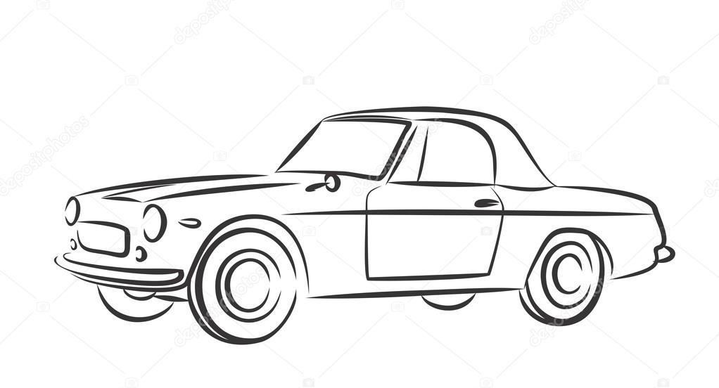 Altes Auto Skizze — Stockvektor © Designer_an #103575466