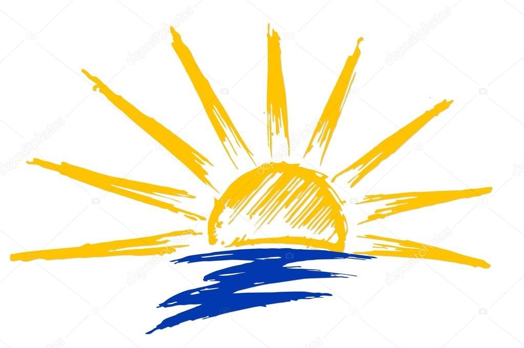 dibujo de sol y mar archivo imágenes vectoriales designer an
