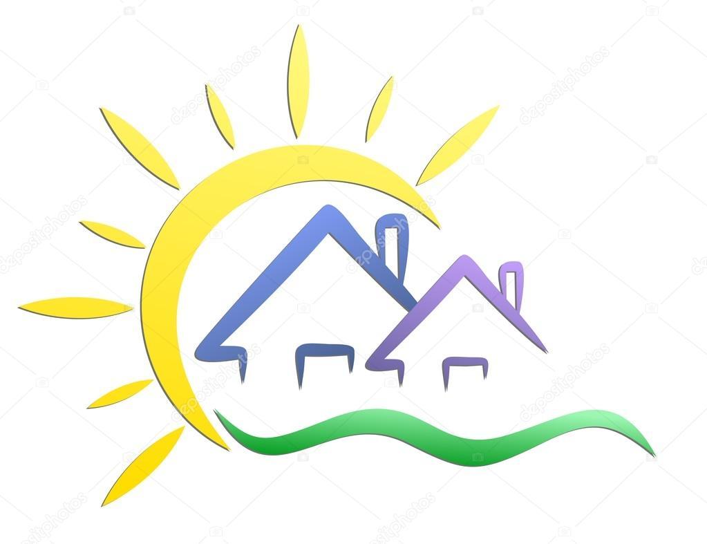Im genes logos casas rurales casas rurales de logo con el sol vector de stock designer an - Logo casa rural ...