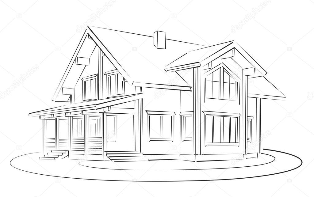 Dibujos: Dibujo Casas De Madera