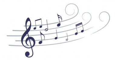 stylized music notes.