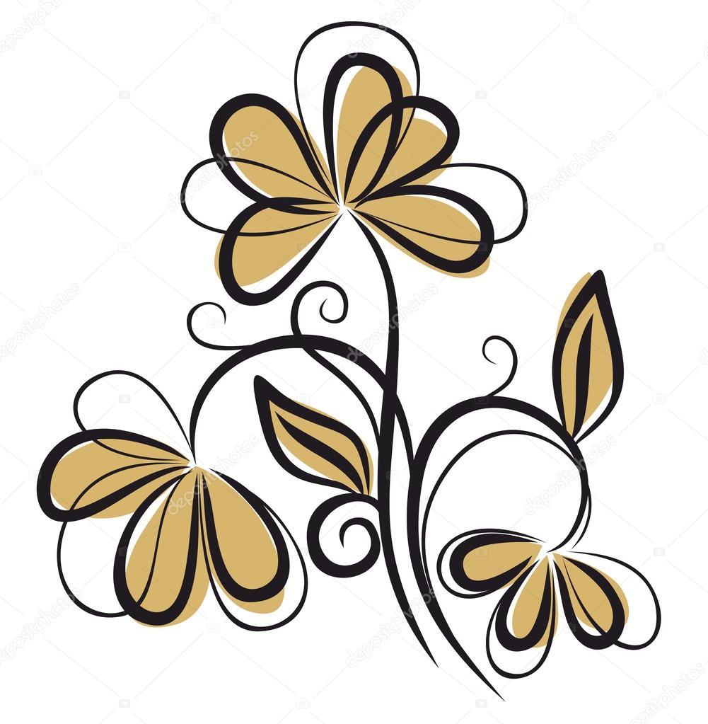 Dessin De Fleur De Champ Image Vectorielle Designer An C 91900340