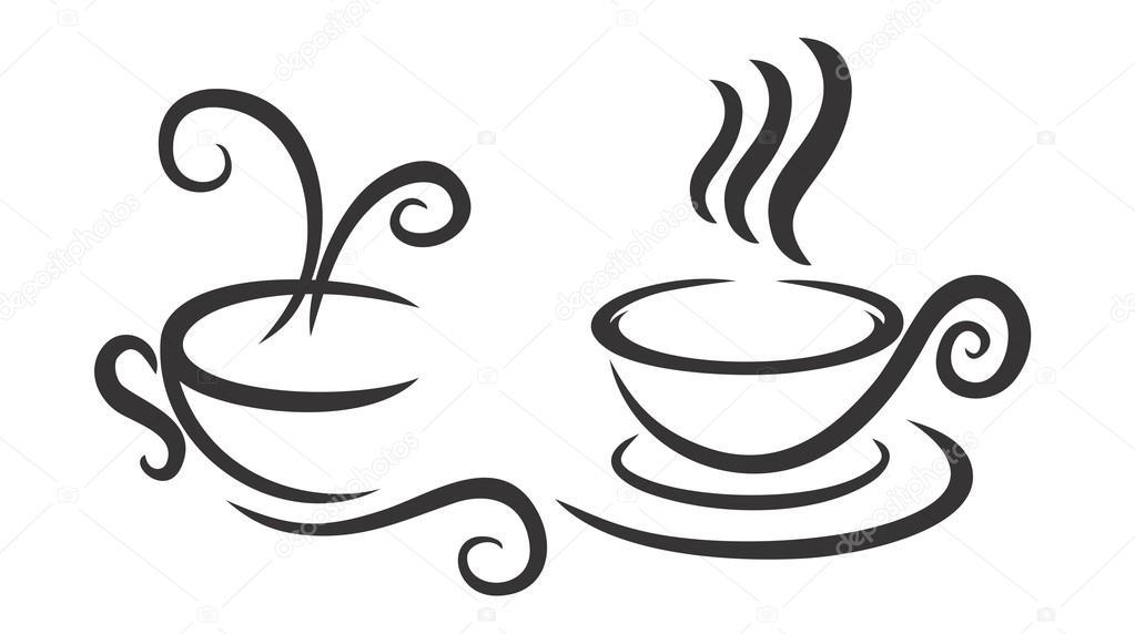 Logos De Tazas De Café — Vector De Stock