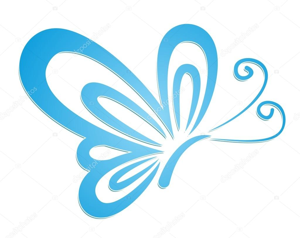 Logo of a blue butterfly stock vector designeran 95238894 a logo of the flying blue butterfly vector by designeran biocorpaavc Image collections