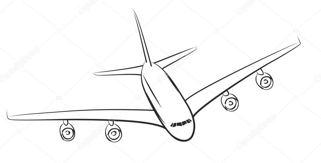 how to draw an airplane in illustrator