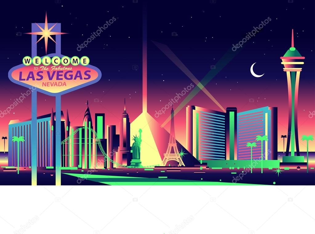 las vegas night skyline stock vector  u00a9 mauromod 69291121 welcome to fabulous las vegas sign vector las vegas sign vector free