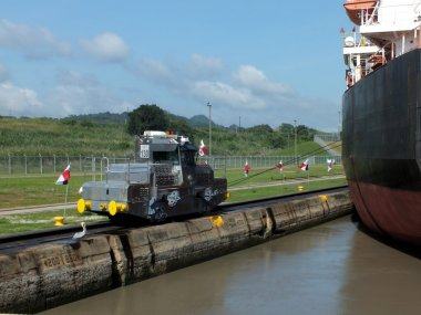 Panama Canal Locomotive