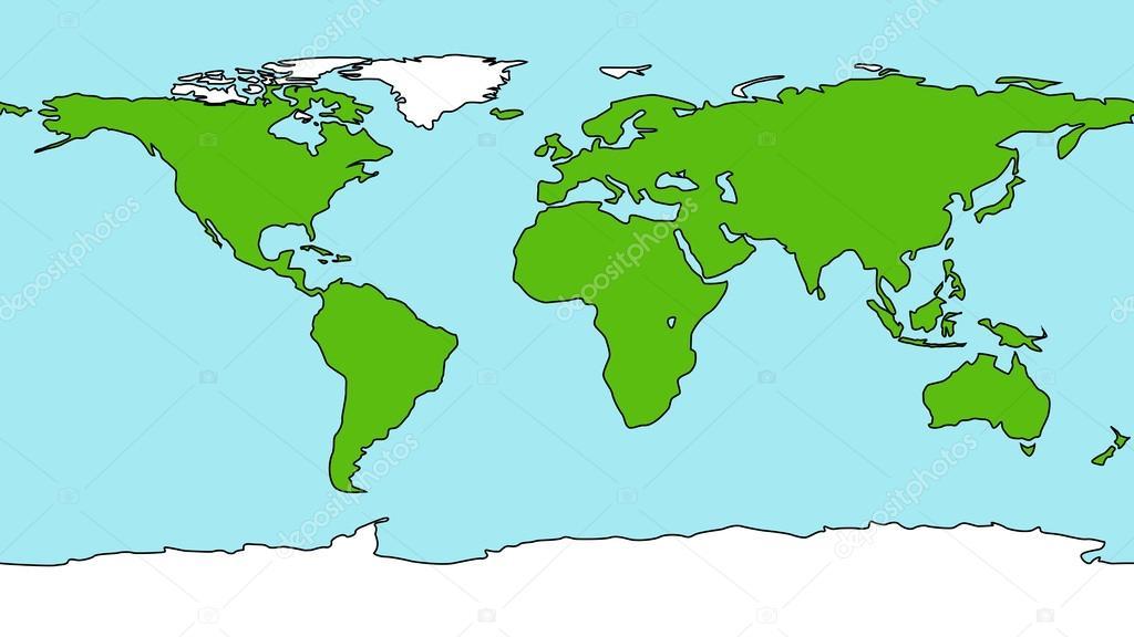 karta jorden Tecknad stil jorden karta — Stock Vektor © mrhighsky #58343209 karta jorden