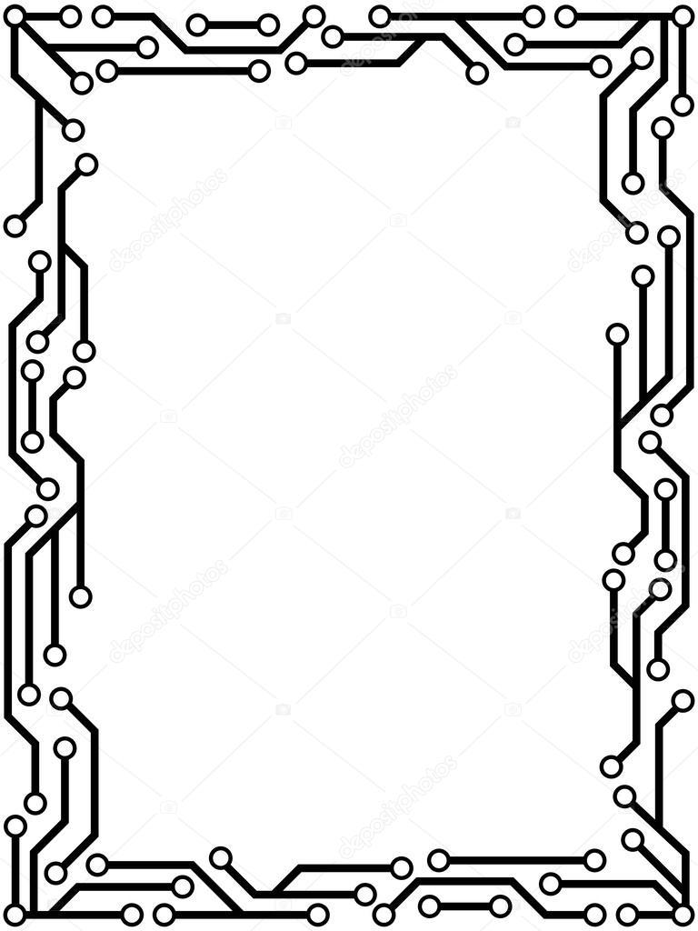 circuit frame  u2014 stock vector  u00a9 mrhighsky  61916141