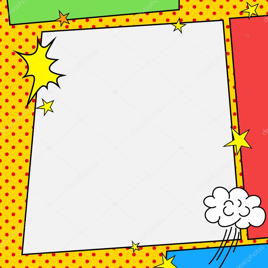 Comic Book Style Rahmen — Stockvektor © mrhighsky #79004470