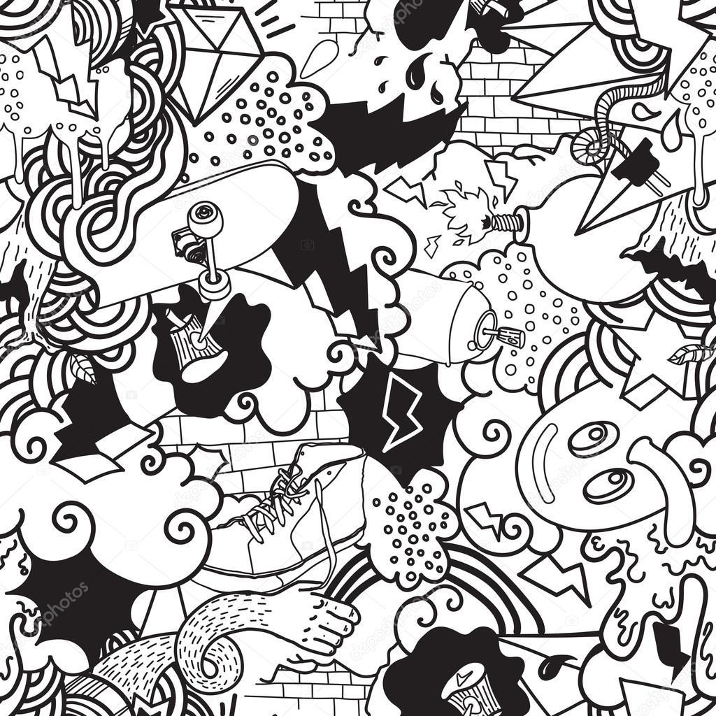 Wallpapers Streetwear Wallpaper Graffiti Colorful Seamless