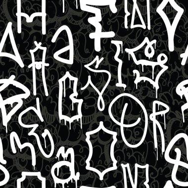 Graffiti background seamless pattern