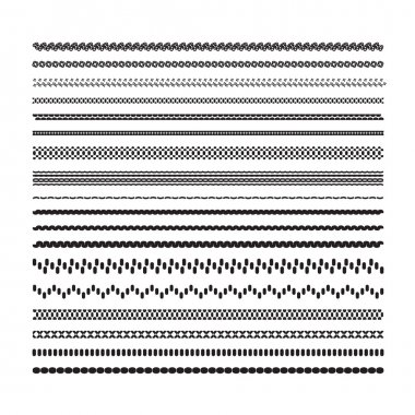 Simple underlines. A set of decorative design elements for selec