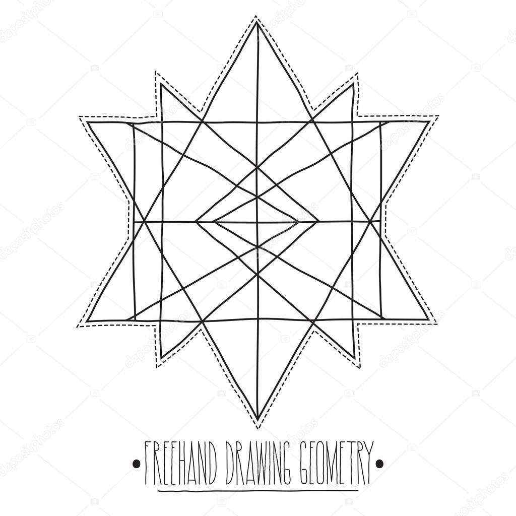 Hueco De La Base De Figuras Geometricas Y Elementos Con Lineas